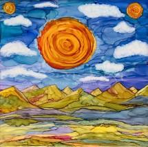 Three Suns Burning Brightly